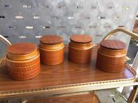 Hornsea 'Saffron' 4 storage jars
