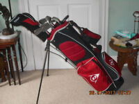 black and red dunlop tour tp11 set golf clubs
