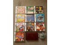 Nintendo DSi XL and 10 games