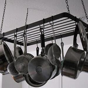 Ikea hanging kitchen ceiling pot rack shelf storage
