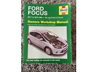 Haynes Ford Focus 2011 - 2014 (60 - 14 reg) petrol & deisel manual