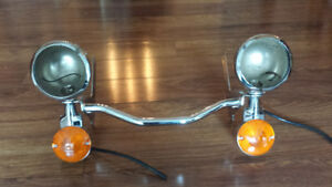 Chrome light bar for Harley Davidson