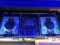 Denon DN-S3500 CDJ Turntables CD decks & Denon DN-X 1500 DJ Mixer in case.
