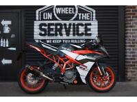 2017 17 KTM RC 390 BLACK, LOW MILEAGE EX DEMO BIKE
