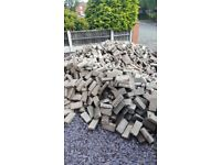 Brindle paving blocks