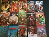 Marvel DC graphic novels x 15