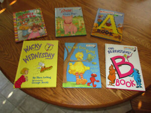 6 Children's Beginner Books  Each of these books is in clean and