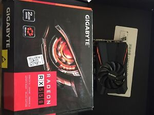 GIGABYTE RX 550 2GB **used once**