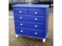 STUNNING GENUINE VICTORIAN 2 OVER 3 CHEST OF DRAWERS