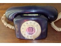 Original vintage 1977 Queen's Silver Jubilee commemorative rotary dial Model 776 telephone.
