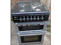 Stoves black silver and chrome gas cooker