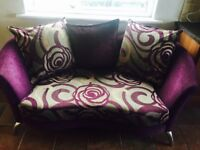 Purple and Grey 3 Seater and Chair for Sale