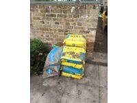 10 x 25kg Cement Bags and 4 x 25kg Ballast