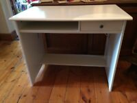 White ikea desk with drawer (good condition)