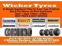 Wicker tyres part worn tyre services tracking mechanics wholesale