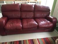 Wine Red 3 seater sofa