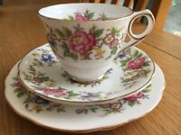 Royal Stafford (Rochester) Teacup, saucer and side plate