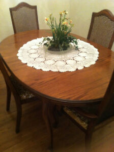 dining room table with 4 chairs 375.00 / reduce for quick sale