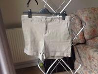 Khaki High Waisted Shorts Size 28in