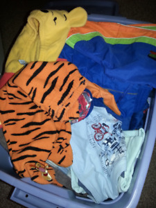 bin full of boy clothing baby to 3 year old