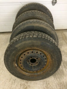4 Studded 215/70P15 Ford Ranger Sized Winter Tires & Rims