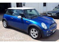2006 Mini Cooper 1.6 LOW MILES 79k, history, December 2017 MOT, Blue with white roof, alloys LOVELY