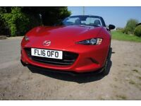 Mazda MX-5 Limited Edition Recaro Softtop Soul Red 2016 low mileage excellent condition