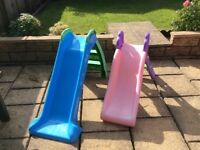 2 toddler outdoor slides