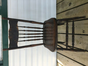 High Back Antique Chair