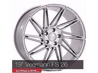 "19"" Veeman FS 26 Alloy wheels &Tyres LEON, A4 A3 MK2 MK3 VW Passat, Jetta, Golf MK5, MK6, MK7,Caddy"