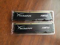Kingston Hyper X DDR3 8GB (2x4GB stick)