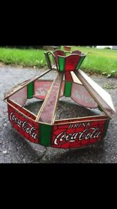 Coca-cola stained glass lamp shade