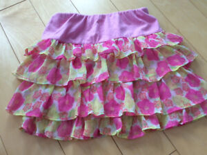 Floral ruffle skirt size 4