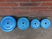 110KG OF BODY SCULPTURE CAST IRON WEIGHT PLATES