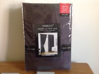 """Brand new Faux silk pencil pleat curtains with tie backs (90x90"""")"""
