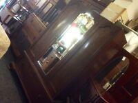 Lovely antique mirror front wardrobe