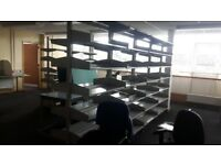 double sided metal shelving