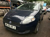 2006 Fiat Punto Active 1.2 Petrol 3dr Blue Breaking For Spares