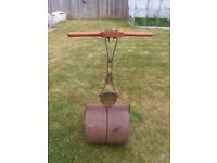 GARDEN ROLLER CAST IRON ;GAMAGES LONDON SUPPLIER QUITE HEAVY GOOD CONDITION