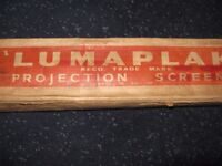 LUMAPLAK PROJECTION SCREEN VINTAGE