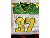 John Deere American football style top XL