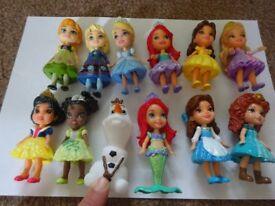 New First Toddler Disney Princess Mini Glitter Doll Only £2 Each Brave Frozen Snow White cinderella