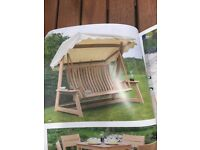 Garden Swing Seat Alexander Rose 3 Seater Swing Seat. Brand New and still boxed. Collection only