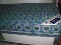 SINGLE DIVAN BED BASE STORAGE & ORTHOPAEDIC SPING FOAM MATTRESS MATCHING EXCELLENT CONDITION