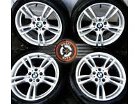 "18"" Genuine BMW M-Sport staggered alloys, premium Pirelli tyres."