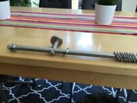 Brushed Stainless Steel Curtain Pole