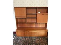 Retro 1960/70's side board unit with working lights