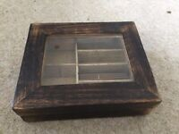 Small wooden jewellery box,