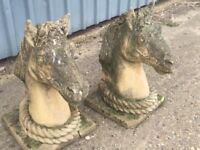 Ornamental Garden horses Heads