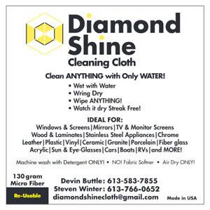Diamond Shine Cleaning Cloths - Clean Anything with Only Water!